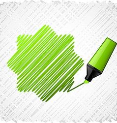 Drawing green seven-star vector