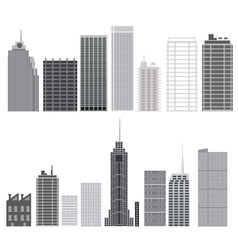 Set of skyscrapers isolated vector