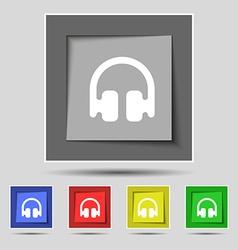 Headphones earphones icon sign on the original vector