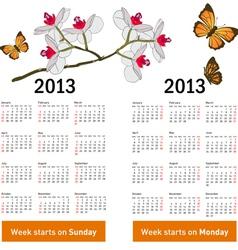 Stylish calendar vector