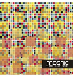 Mosaic of colored squares vector