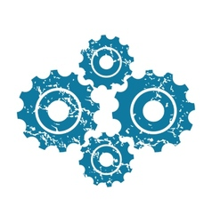 Grunge gears icon vector