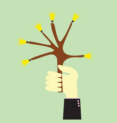 Handle tree idea vector