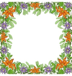 Background frame of flowers vector