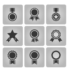 Medal and award icons vector