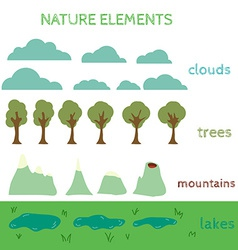 Nature design elements build your own landscape vector