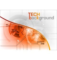 Technical background with orange line vector