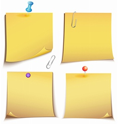 Adhesive memory notes set vector