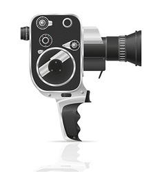 Old retro vintage movie video camera 02 vector