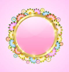 Flower bubble template vector