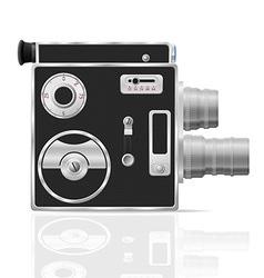 Old retro vintage movie video camera 03 vector