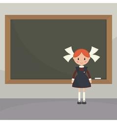 Soviet schoolgirl from school boards vector