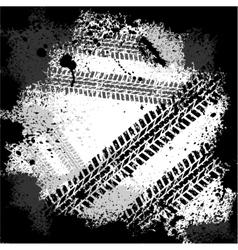 Ink blots tire track vector