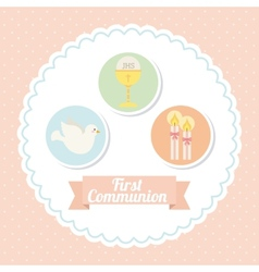 First communion vector