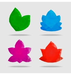 Flowers in a triangular style vector