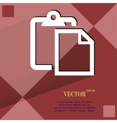 Blank paper flat modern web design on a flat vector