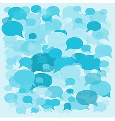 Background speech bubbles vector