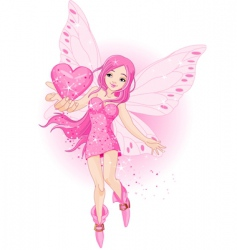 Love fairy vector