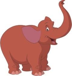 Cheerful elephant vector