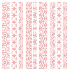 Lace ribbons fabric seamless pattern vector