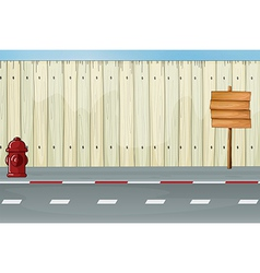 Roadside fence vector