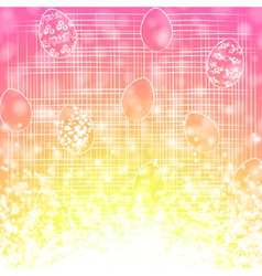 Easter egg holiday background vector