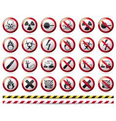 Prohibition danger sign vector