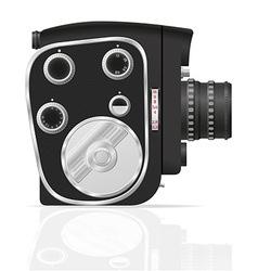 Old retro vintage movie video camera 04 vector