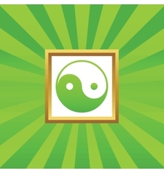 Ying yang picture icon vector