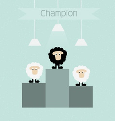 Black sheep is champion vector