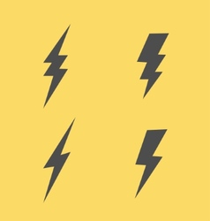 Lightning flat icons set vector