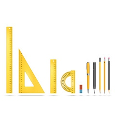 Ruler instruments vector