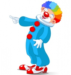 Cute clown laughing vector