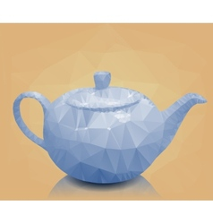 Polygonal mosaic of teapot vector