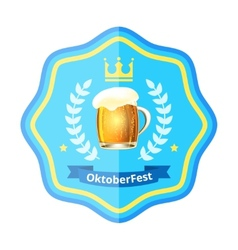 Oktoberfest beer badge vector