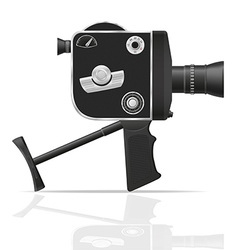 Old retro vintage movie video camera 05 vector