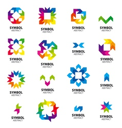 Big collection of logos abstract modules vector