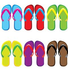 Pairs of flip flops vector