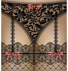 Black lace lingerie vector