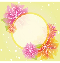 Springtime colorful flowers vector