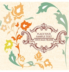 Elegance vintage card place for text or message vector