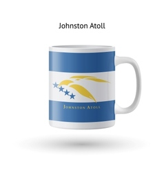 Johnston atoll flag souvenir mug on white vector
