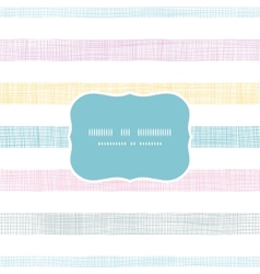 Abstract textile colorful stripes frame seamless vector