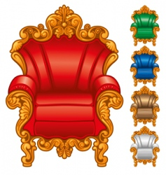 Antique armchair vector