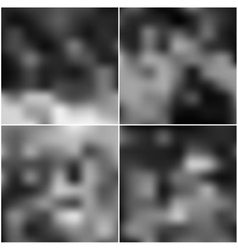 Black editable blurred backgrounds set vector