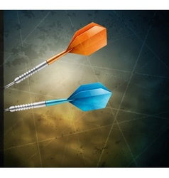 Grunge background with darts vector
