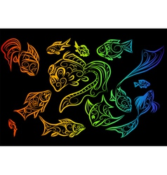 Tropical fish 2 vector