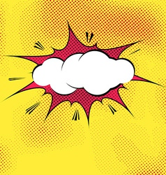 Speech bubble pop-art splash explosion template vector