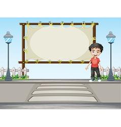 Cartoon roadside signboard vector