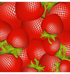 Red strawberries background vector
